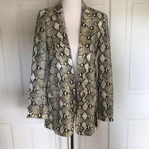 Zara Basic Snakeskin Print Long Blazer Sz XS NWT